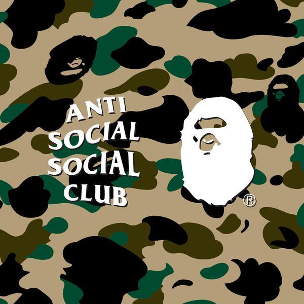 BAPE X Anti Social Social Club:猿顏迷彩與標誌性LOGO的結合!